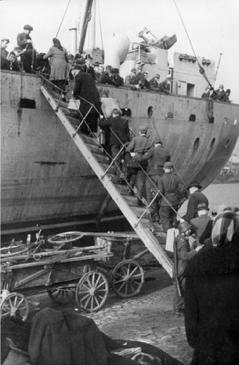 Evakuierung aus Kurland, Quelle: Bundesarchiv Bilddatenbank
